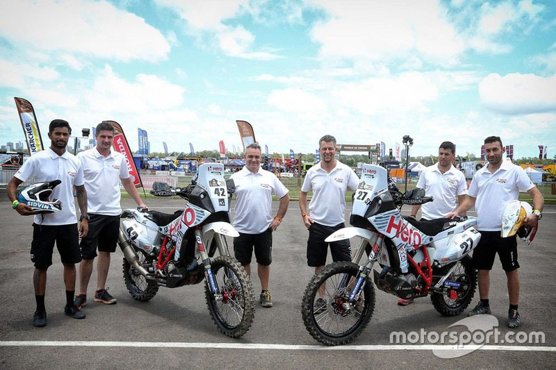 Joaquim Rodrigues, Hero MotoSports Team Rally y CS Santosh, Hero MotoSports Team Rally y Wolfgang Fischer, Team Manager Hero MotoSports Team Rally