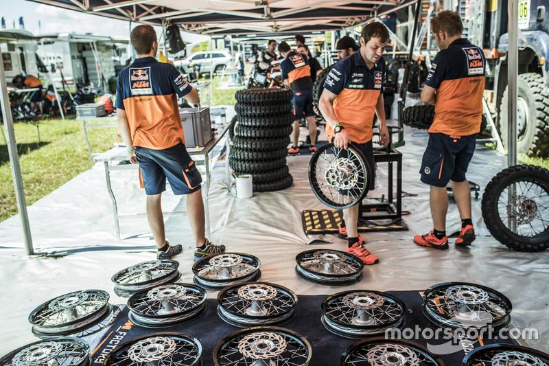 Zona del Team Red Bull KTM Factory Racing