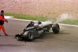 Incidente: Mika Salo, Arrows