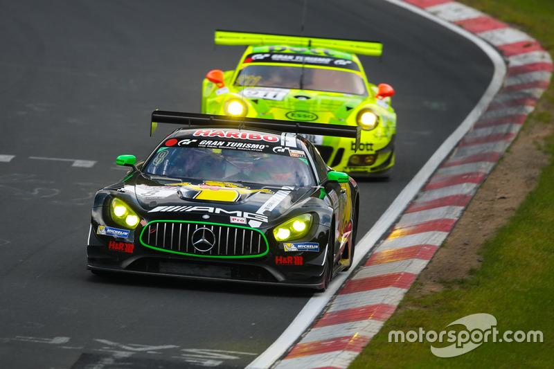 Lance David Arnold, Mario Farnbacher, Daniel Juncadella, Haribo Racing, Mercedes-AMG GT3