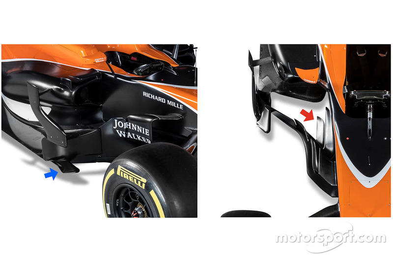 Les déflecteurs de la McLaren MCL32