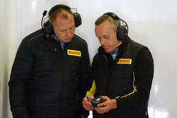 Pirelli technicians at work