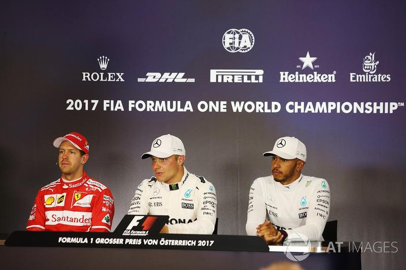 Валттері Боттас, Mercedes AMG F1, Себастьян Феттель, Ferrari, Льюіс Хемілтон, Mercedes AMG F1
