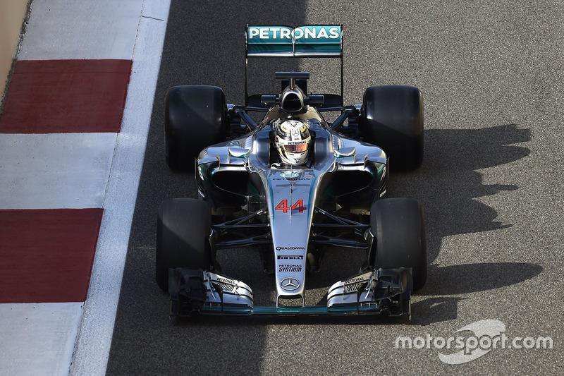 Lewis Hamilton, Mercedes F1 Team teste les pneus Pirelli 2017