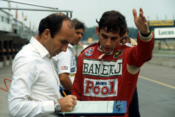 Ayrton Senna und Frank Williams, Williams-Teamchef