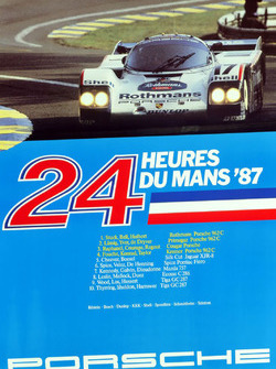 Poster: Porsche-Sieg bei den 24h Le Mans 1987