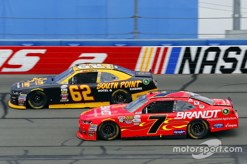 Brendan Gaughan, Richard Childress, Racing Chevrolet;  Justin Allgaier, JR Motorsports, Chevrolet