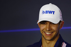Esteban Ocon, Force India, in the press conference