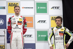Rookie Podium: Mick Schumacher, Prema Powerteam, Dallara F317 - Mercedes-Benz and Lando Norris, Carlin, Dallara F317 – Volkswagen