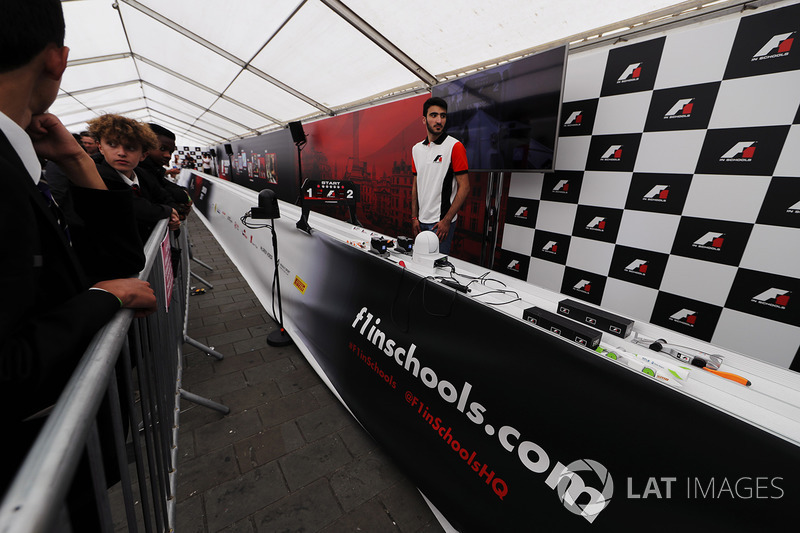 The F1 In Schools display