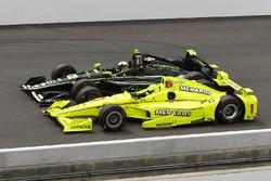 Simon Pagenaud, Team Penske Chevrolet, Juan Pablo Montoya, Team Penske Chevrolet