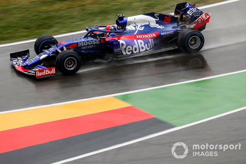Даниил Квят заезжает на пит-лейн по ходу Гран При Германии