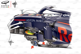 Red Bull RB15 bargeboards, con títulos