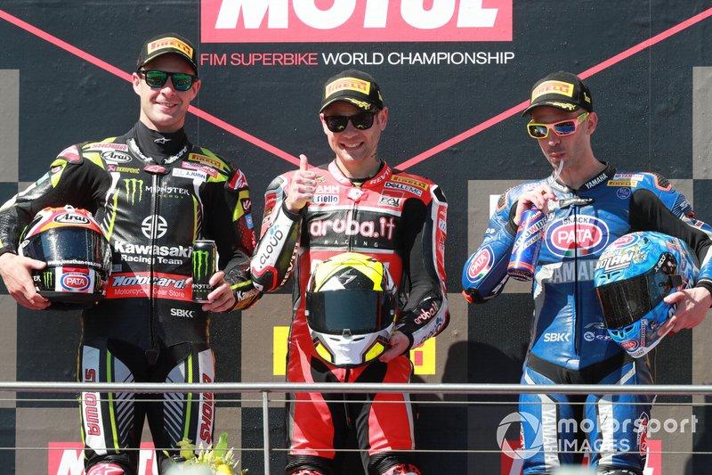 Jonathan Rea, Kawasaki Racing, Alvaro Bautista, Aruba.it Racing-Ducati Team, Marco Melandri, GRT Yamaha WorldSBK