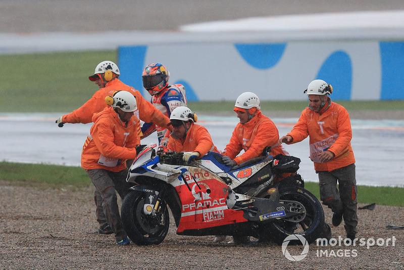 Jack Miller, Pramac Racing, después de su caída