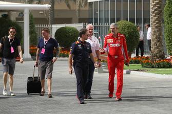 Christian Horner, Red Bull Racing Team Principal and Maurizio Arrivabene, Ferrari Team Principal