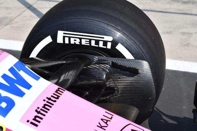 Écope de frein avant de la Racing Point Force India VJM11