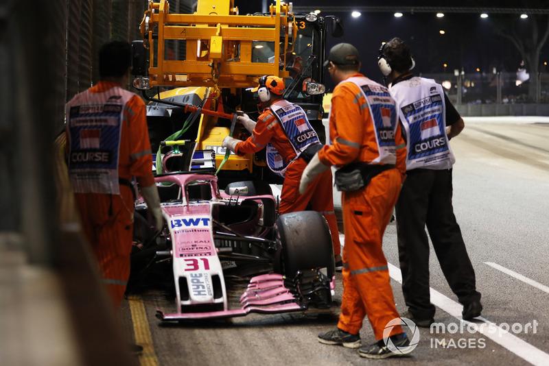 GP Singapura - Esteban Ocon/Sergio Pérez (balapan)