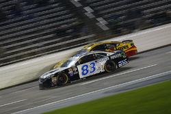Jeffrey Earnhardt, BK Racing Toyota, Chris Buescher, Front Row Motorsports Ford