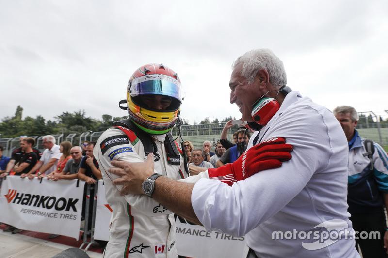 Lance Stroll, Prema Powerteam Dallara F312 – Mercedes-Benz con su padre