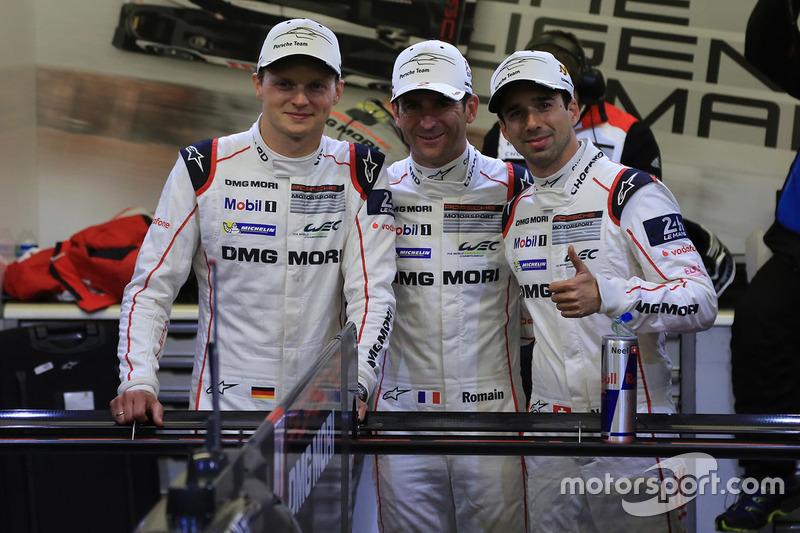 Обладатели поула: Porsche Team – Ромен Дюма, Мару Либ, Нил Джани
