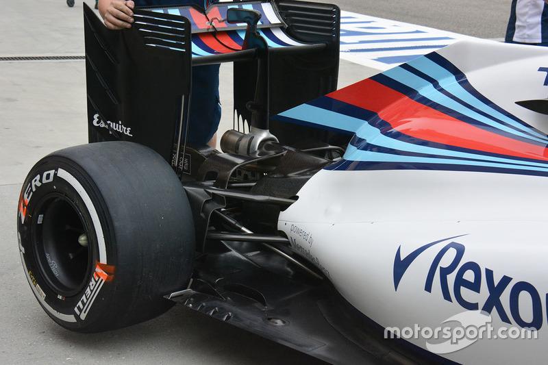 Williams FW38 rear detail
