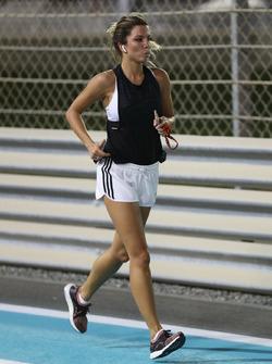 Federica Masolin, Sky Italia Presenter runs the track