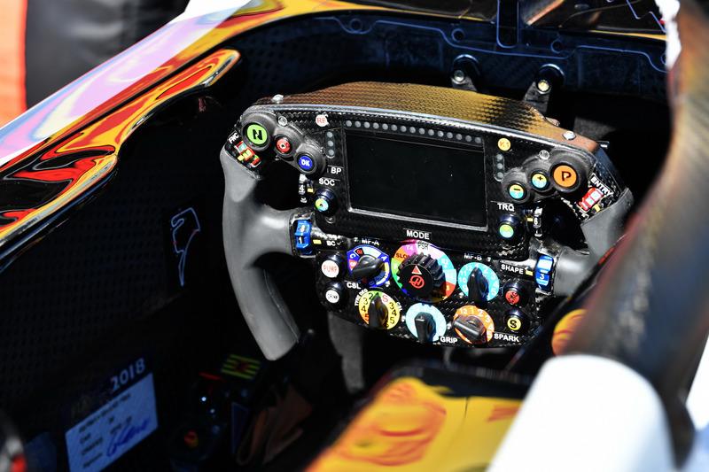 Haas F1 Team VF-18 steering wheel