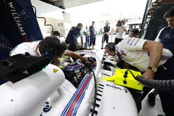 Lance Stroll, Williams Racing, in his cockpit