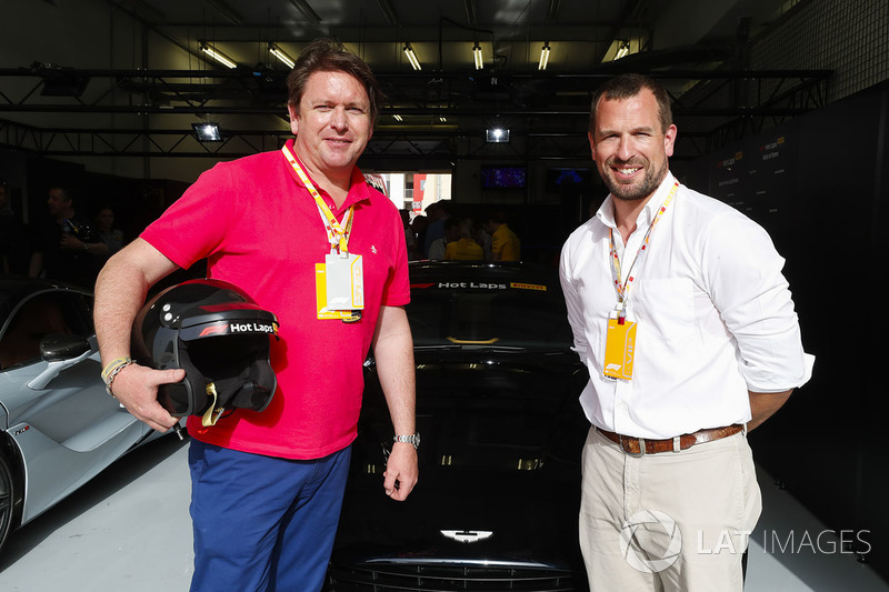 Chef James Martin participates in Hot Lap rides with Peter Phillips