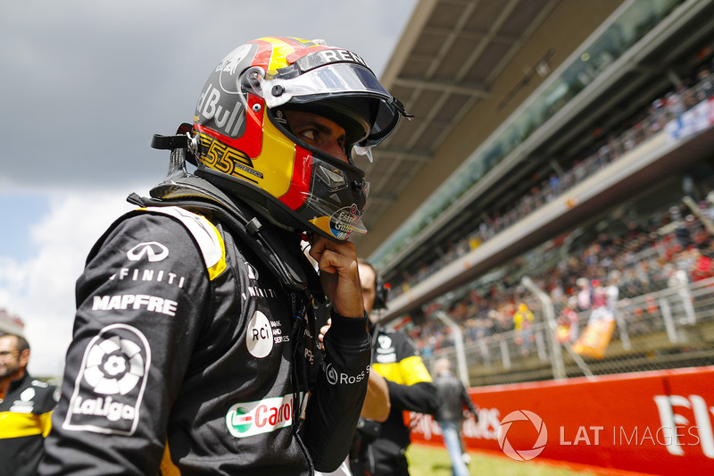 Carlos Sainz Jr., Renault Sport F1 Team, in griglia