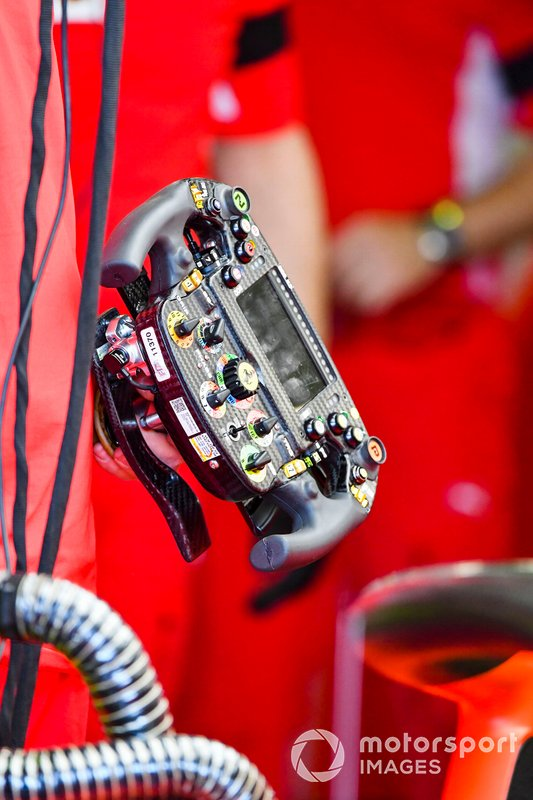 Steering wheel from the Ferrari SF90
