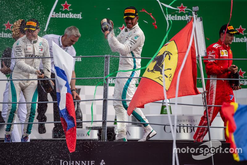 14. GP Italia - Podium: Lewis Hamilton, Valtteri Bottas, Kimi Raikkonen