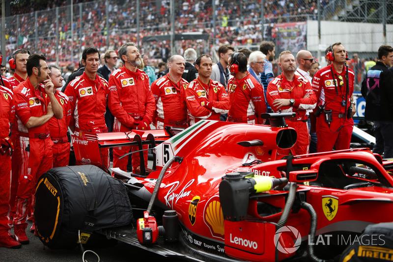 Kru Sebastian Vettel, Ferrari SF71H