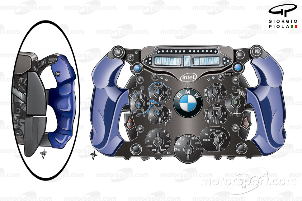 BMW Sauber F1.09 steering wheel Nick Heidfeld