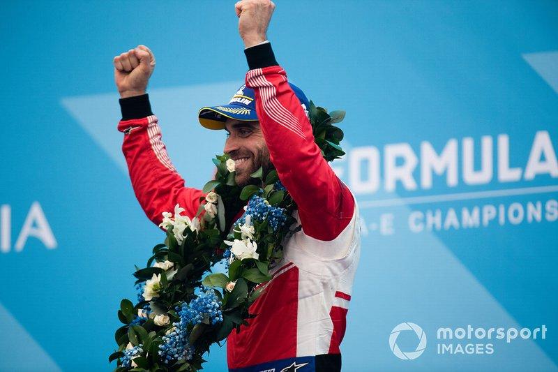 Jérôme d'Ambrosio, Mahindra Racing celebrates third position on the podium