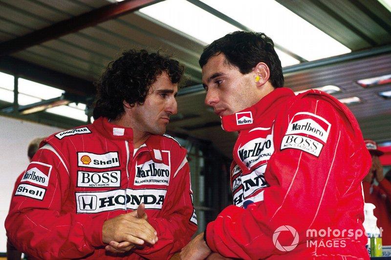 1988: Alain Prost y Ayrton Senna