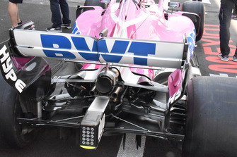 Racing Point Force India VJM11 achterkant detail