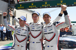 Race winners Timo Bernhard, Earl Bamber, Brendon Hartley, Porsche Team