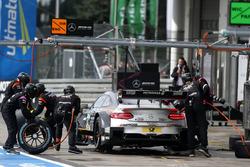 Pit stop, Maro Engel, Mercedes-AMG Team HWA, Mercedes-AMG C63 DTM