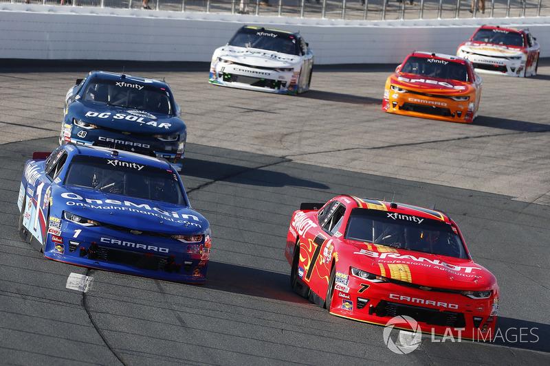 Elliott Sadler, JR Motorsports Chevrolet Justin Allgaier, JR Motorsports Chevrolet
