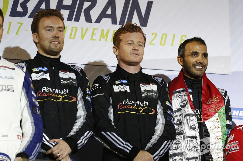 GTE-Am-Podium: 1. #88 Proton Racing, Porsche 911 RSR: Khaled Al Qubaisi, David Heinemeier Hansson, Patrick Long