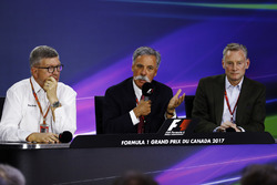 Friday press conference: Ross Brawn, Managing Director of Motorsports, FOM, Chase Carey, Chairman, Formula One and Sean Bratches, Managing Director of Commercial Operations, Formula One Group
