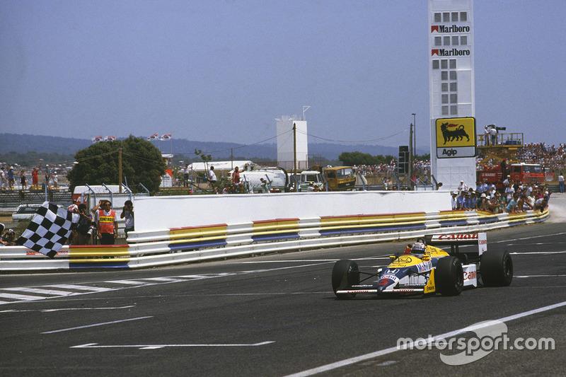 Nigel Mansell, Williams FW11B Honda l'emporte