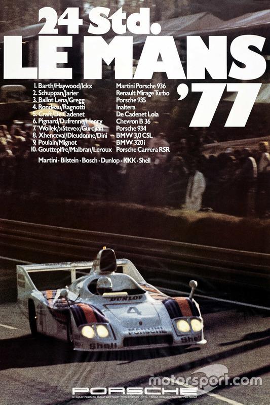 Poster Porsche 24h de Le Mans 1977
