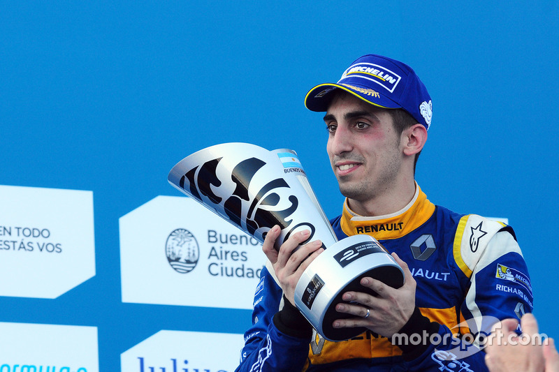 Podio: segundo lugar Sébastien Buemi, Renault e.Dams