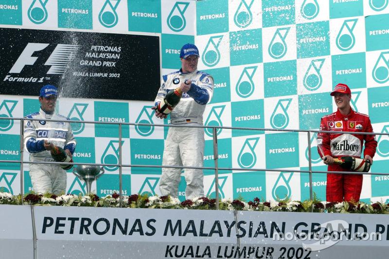 2002 : 1. Ralf Schumacher, 2. Juan Pablo Montoya, 3. Michael Schumacher