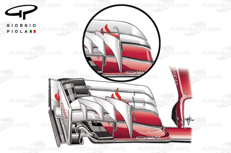 Frontflügel des Ferrari SF16-H