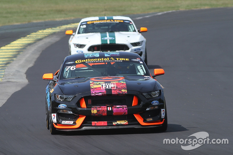 #76 Compass360 Racing Ford Shelby GT350R-C: Paul Holton, Pierre Kleinubing