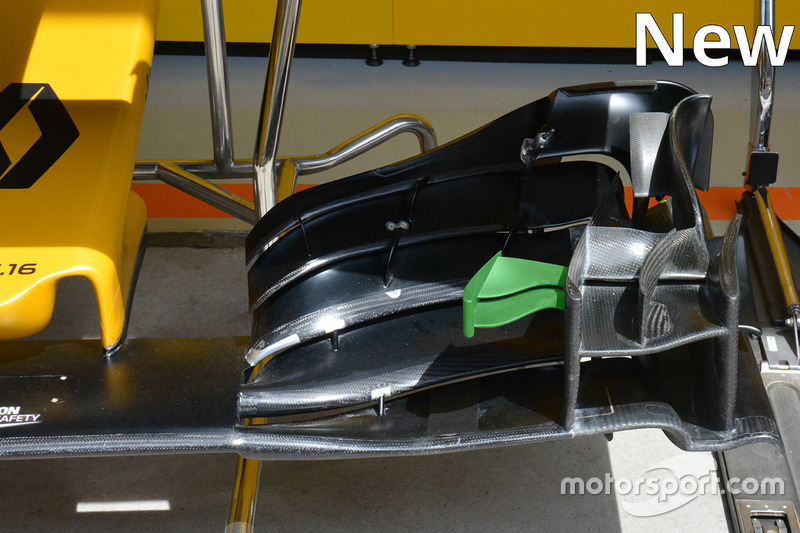 Renault Sport F1 Team new front wing detail